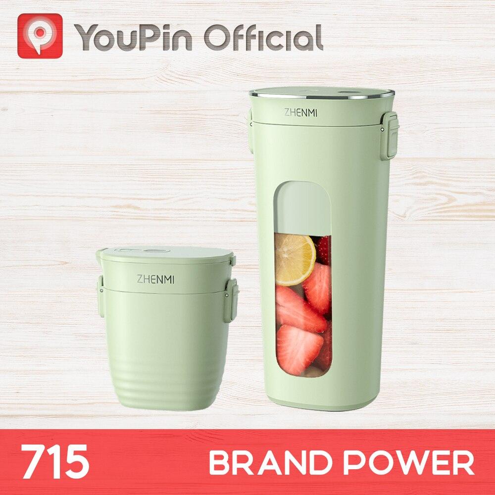 Youpin zhenmi potable vácuo espremedor smoothie liquidificador misturador viagem garrafa esporte sem fio built-in bateria mini processador