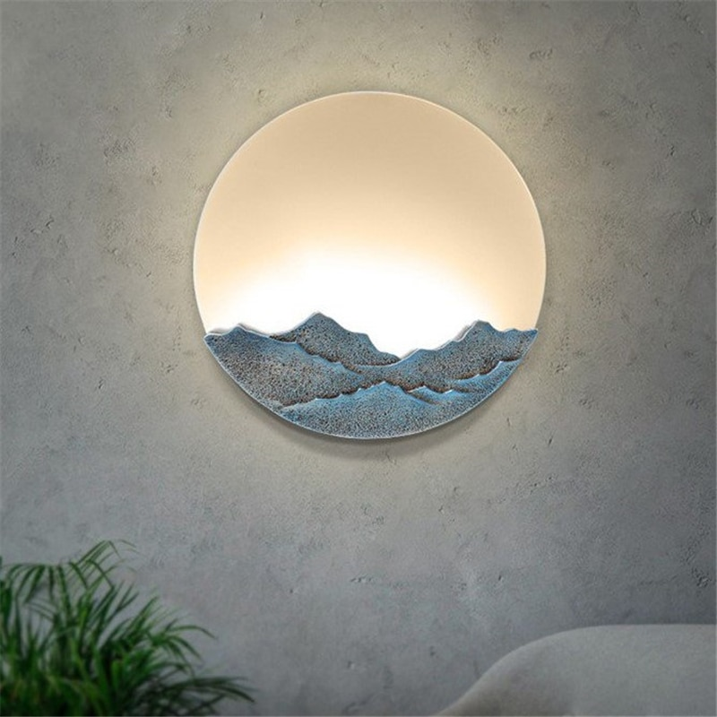 Chinesische Moderne Einfache Wand Lampen Schlafzimmer Nacht Lampe Kreative Harz Club Büro Bar Treppen Gang Dekorative Wand Leuchten