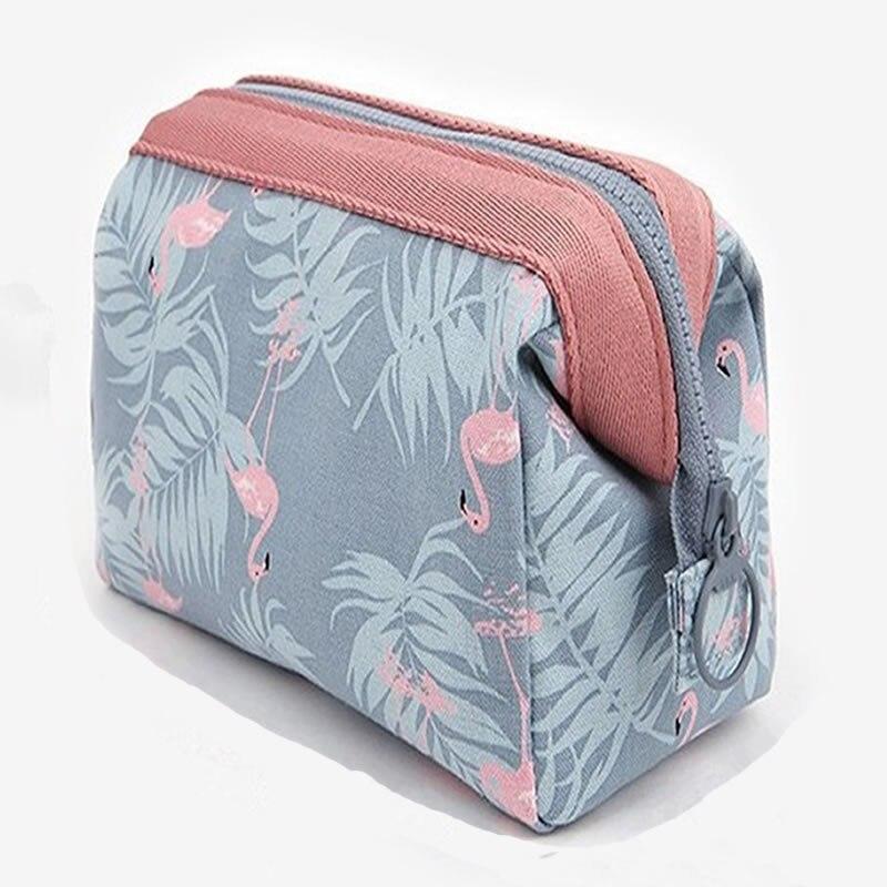 Women Travel Animal Flamingo Make Up Bags Girl Cosmetic Bag Makeup Beauty Wash Organizer Toiletry po