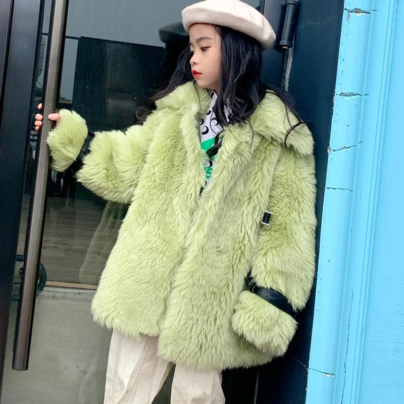 2020 Otoño Invierno moda nuevos niños niñas Real Sheep Shearing Fur Coat niños niñas chaqueta de lana de cordero genuina prendas de vestir K150