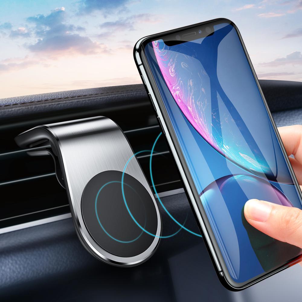 Soporte magnético de Metal para teléfono de coche de GETIHU, soporte magnético para teléfono móvil, soporte para teléfono inteligente, soporte para iPhone 11 Pro 8 7 Samsung
