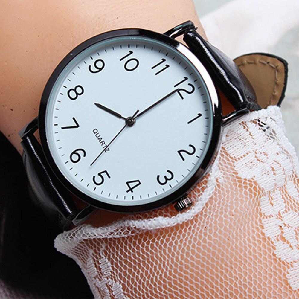 Женские топ брендовые Роскошные Кварцевые часы креативные унисекс простые бизнес модные кожаные кварцевые наручные часы Relogio Feminino подарок Q