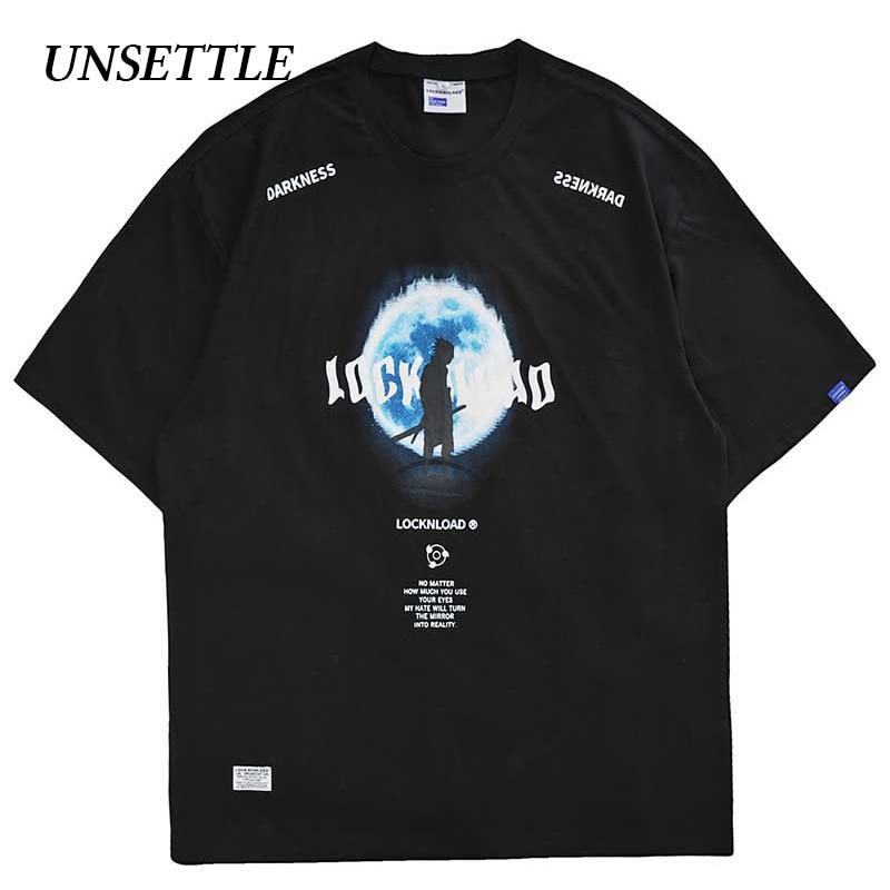 UNSETTLE 2020SS Harajuku T-shirts Summer Men/Women Hip Hop Funny Print Planet Naruto Tshirt Streetwear t shirts Short Sleeve Top