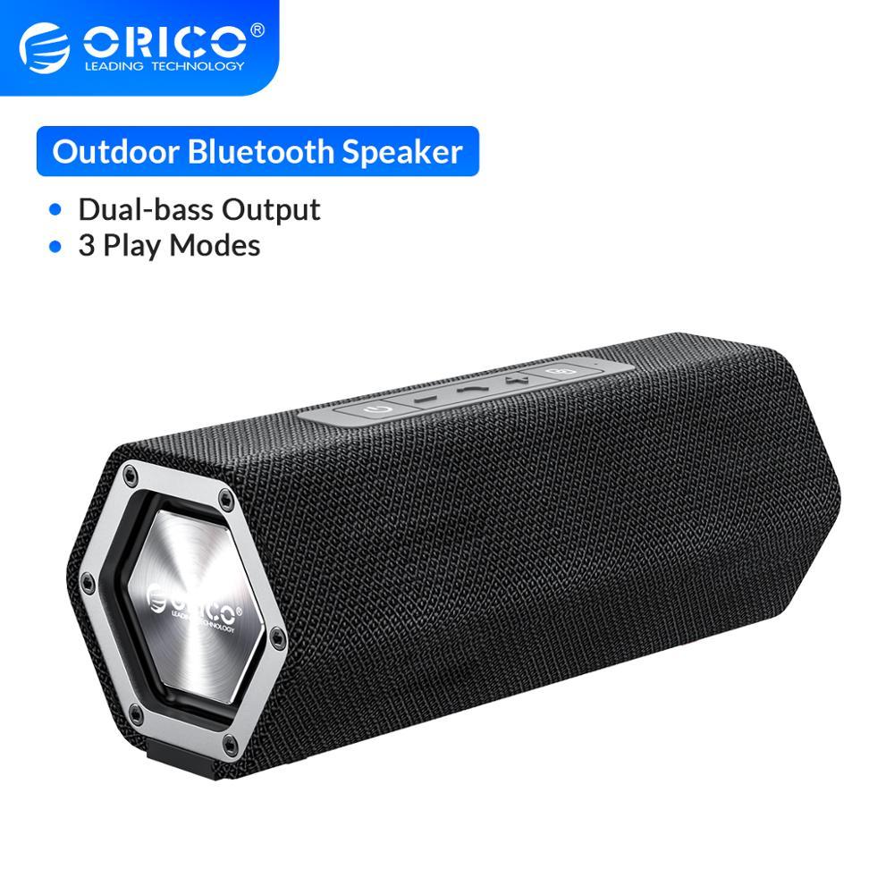 Orico original alto-falante bluetooth à prova dwaterproof água portátil ao ar livre sem fio alto-falante estéreo com microfone apoio tf aux usb