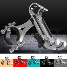 Support de montage de guidon en aluminium moto vélo vélo Anti-vibration support fixe pour téléphone portable GPS tablettes en gros et livraison directe