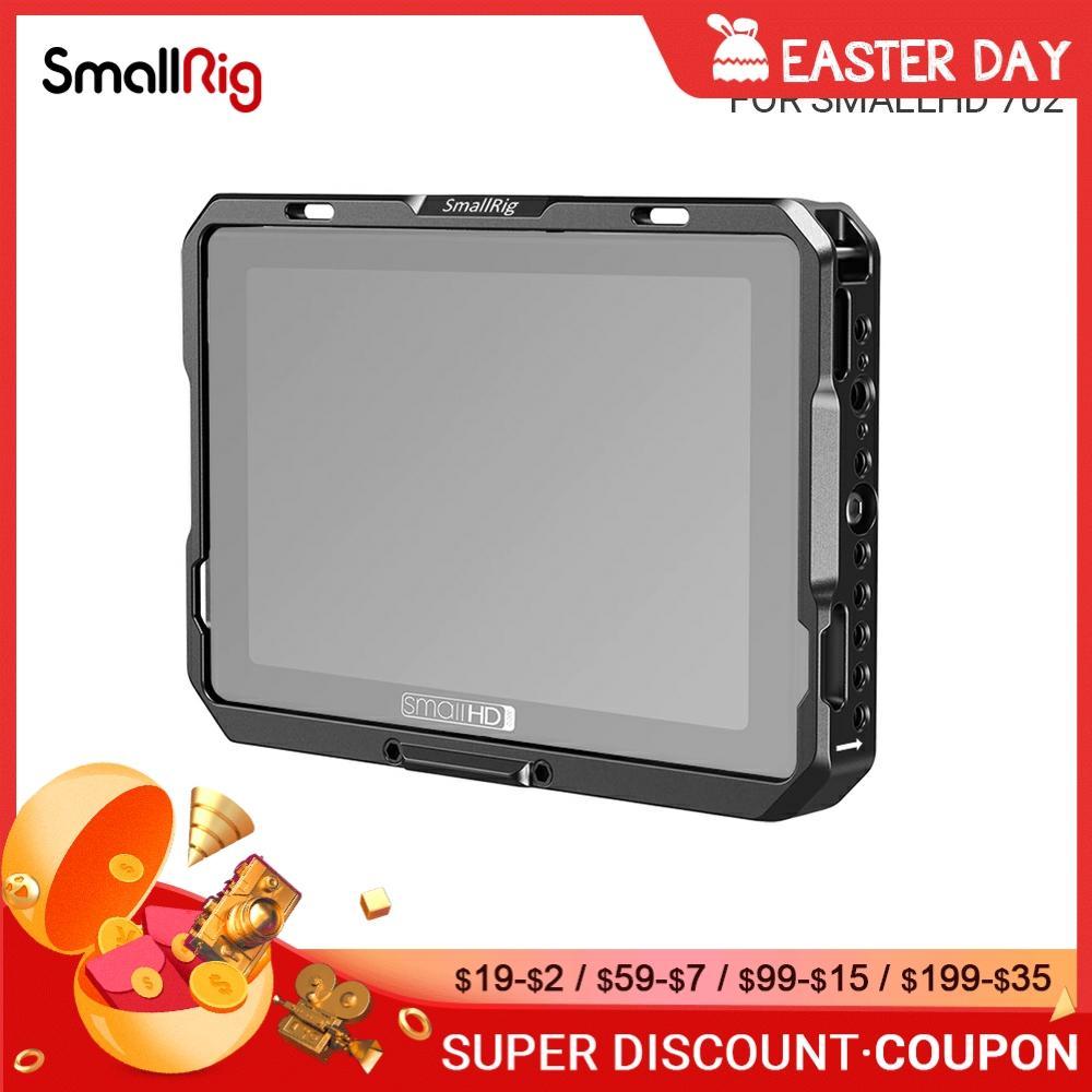 SmallRig-jaula de Monitor con parasol fr SmallHD 702, Monitor táctil con función...