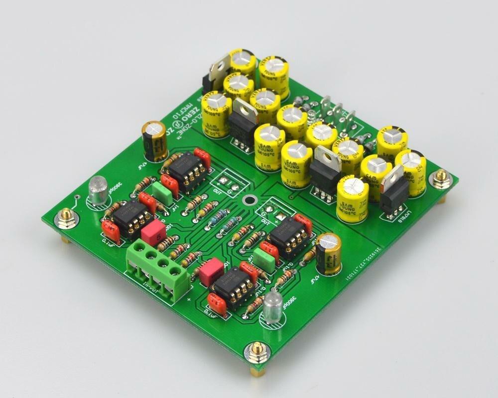 Assembeld MMCF10 HiFi LP fonógrafo MM amplificador/RIAA Phono Placa de preamplificador