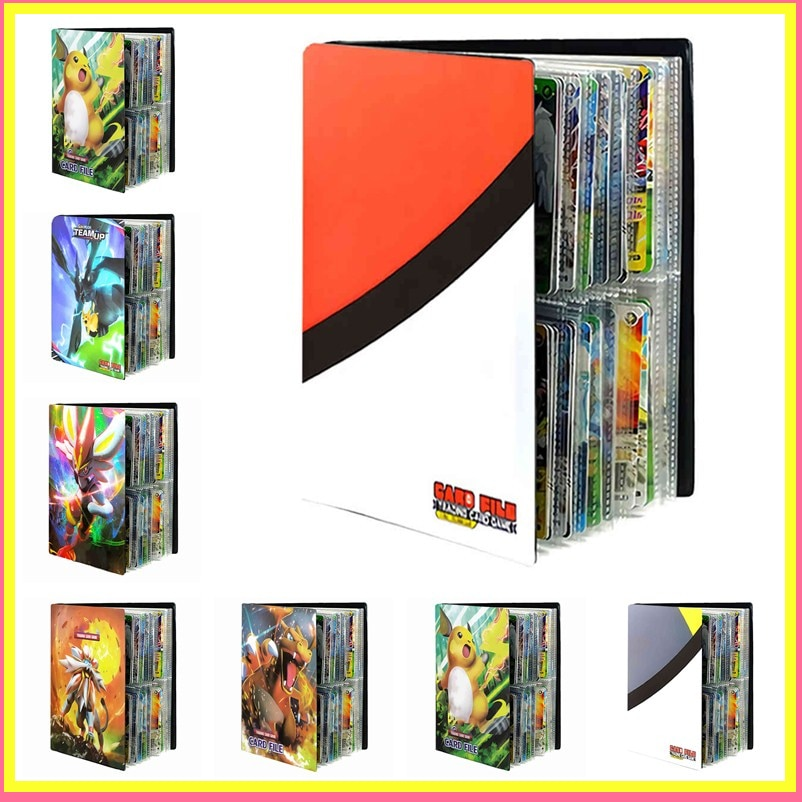 240PCS Game Pokemon Cards Album Book Cartoon Anime Card DIY Collectors Loaded List Holder Capacity Binder Folder Toys For Kids