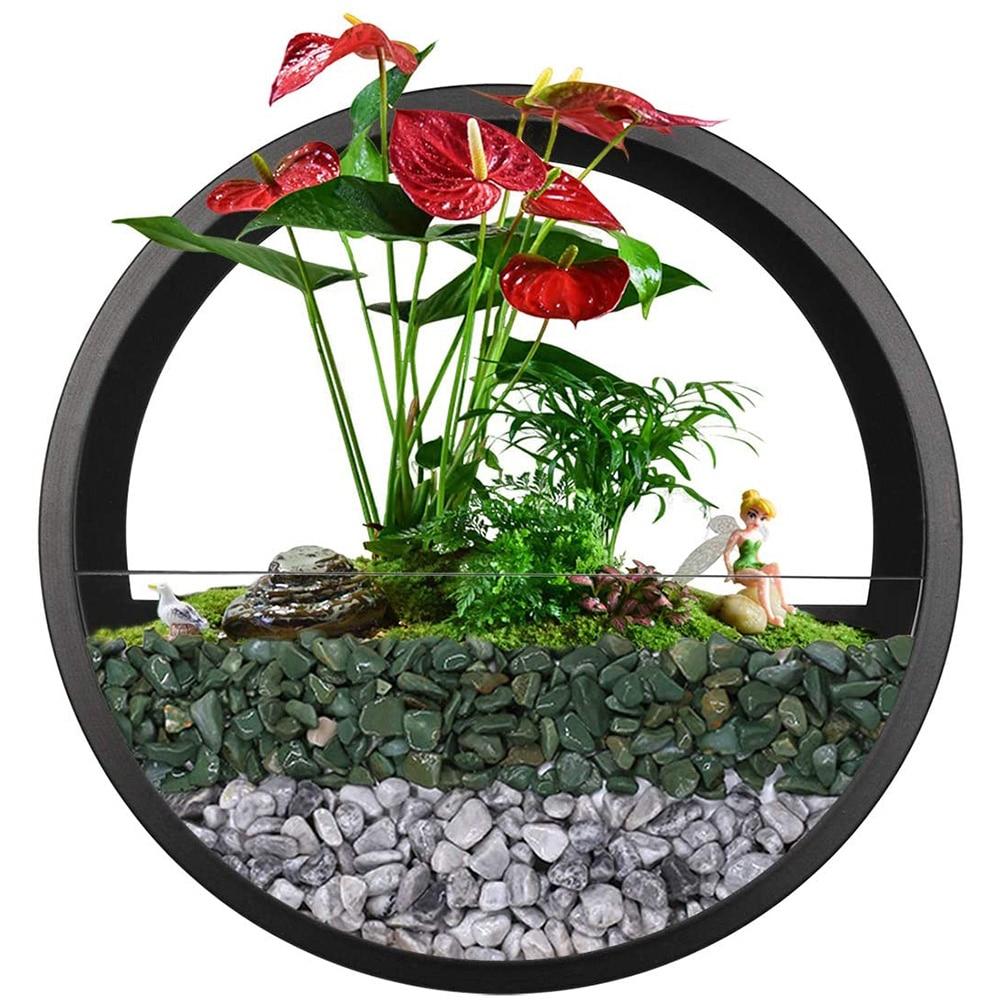 Современная круглая железная ваза на стену, подвесной цветочный горшок для дома, гостиной, ресторана, украшение на стену, растения, кашпо, художественные вазы