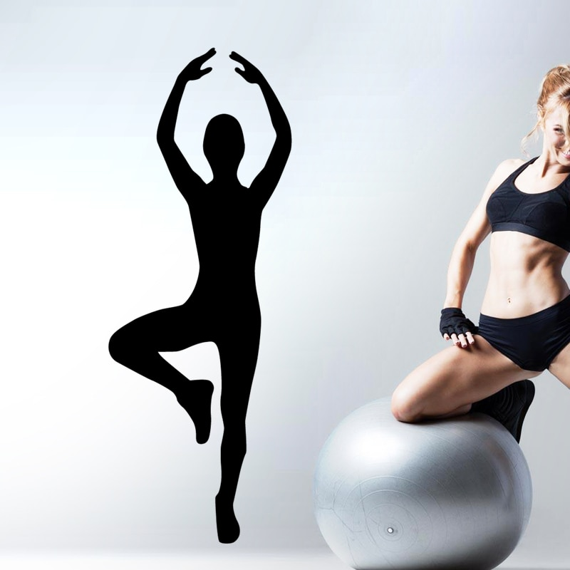 Gimnasia Artística Fitness Etiqueta de CrossFit Body-carteles de edificios vinilo calcomanías decoración pegatina