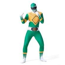 Hommes Dragon équipe vert Zentai Costume Halloween Cosplay Costume