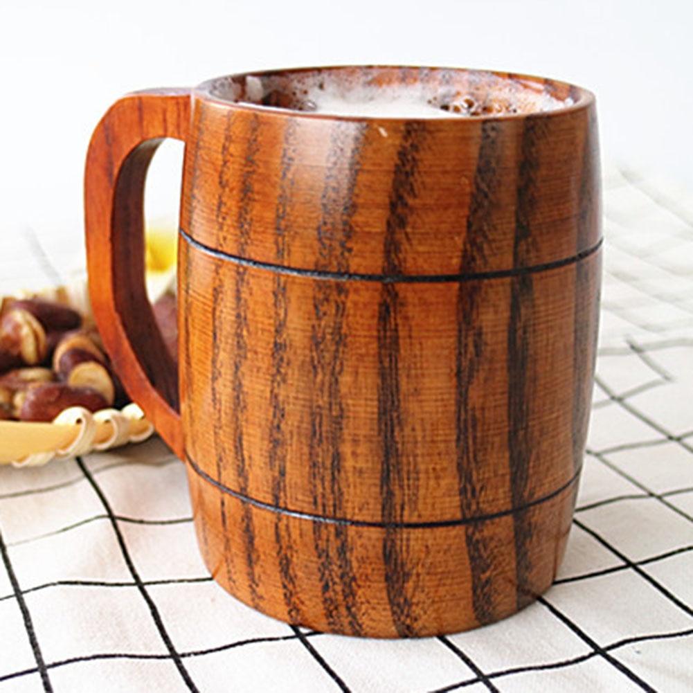 Taza de beber jarras de cerveza de madera taza de café taza de Camping artesanal vasos de cerveza jarra de madera taza de té de la leche regalo materiales naturales taza