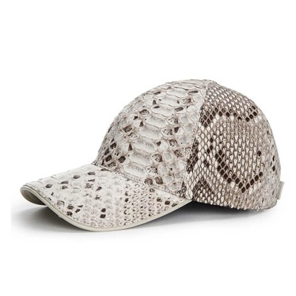 hongqiangyin new pattern  Import  Python skin  Hat  leisure fashion peaked cap  Unisex women men snake cap