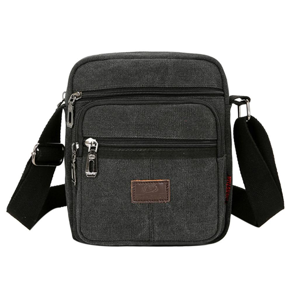 2020 Canvas Crossbody Shoulder Bag for Men Zipper Casual Travel Male Messenger Pack Fashion Small Bag For Man bolsos Sac A Main