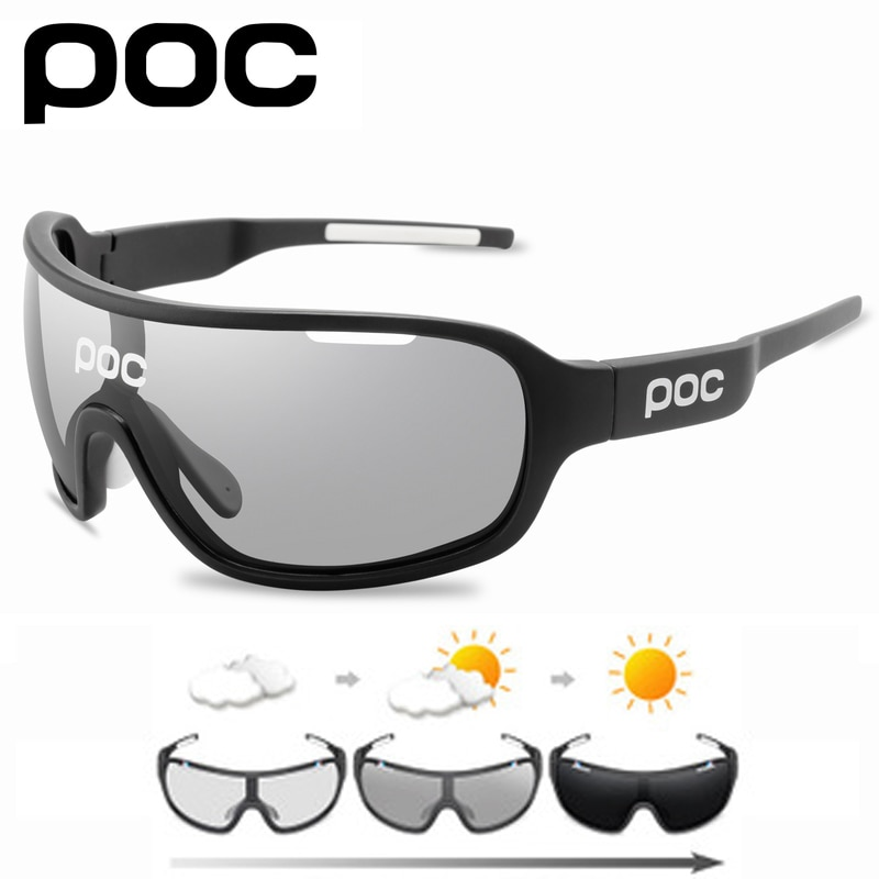 POC 5 Lens Cycling Sunglasses Outdoor Sport Photochromic Eyewear Men Women Bicycle Mountain Bike Glasses UV400 Fishing Goggles 2021 all the new cycling sunglasses men women uv400 sport mountain road bike glasses mtb running fishing goggles bicycle eyewear