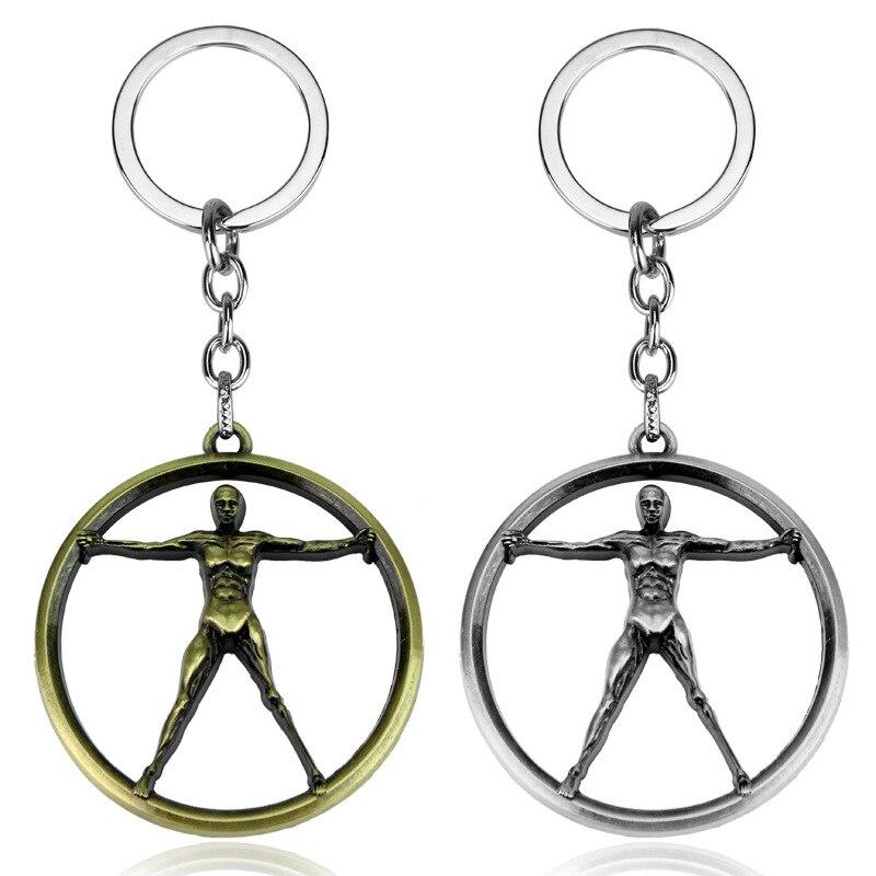 Série de tv westworld metal chaveiro chaveiro carro saco chaveiro titular chave para homem feminino chaveiro llavero jóias
