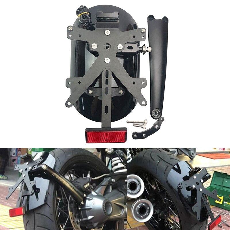 R تسعة T الخلفية الحاجز قوس واقيات الطين مع لوحة ترخيص LED لسيارات BMW R NINET R9T تشويش إذاعي 2014-2020 2017 2018 2019 دراجة نارية