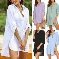 new fashion women swimsuit cover ups shirts ladies bathing suit cover ups mini dress bikini beach tunic tops