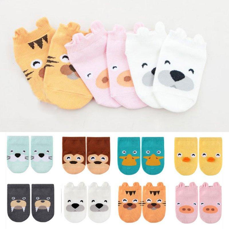 Niños bebé Unisex niñas niños algodón dibujos animados Animal antideslizante botas tobillo calcetines 1-4Y