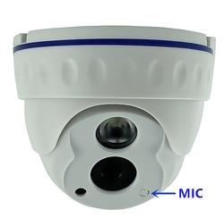 Integrar mic 3mp xm535ai + sc3235 baixa iluminação ip teto dome câmera de áudio 2304*1296 infravermelho irc cms xmeye onvif p2p