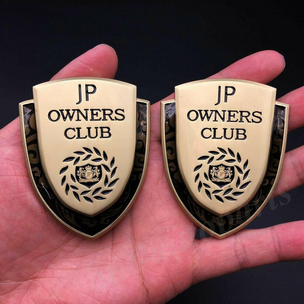 2x 3D металла в клубе класса люкс папа JP окна автомобиля багажник эмблема значок наклейка Стикеры