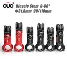 Attacco manubrio OUO regolabile 0-60 gradi attacco manubrio bici regolabile 90/110mm attacco manubrio bici da strada MTB attacco manubrio in alluminio