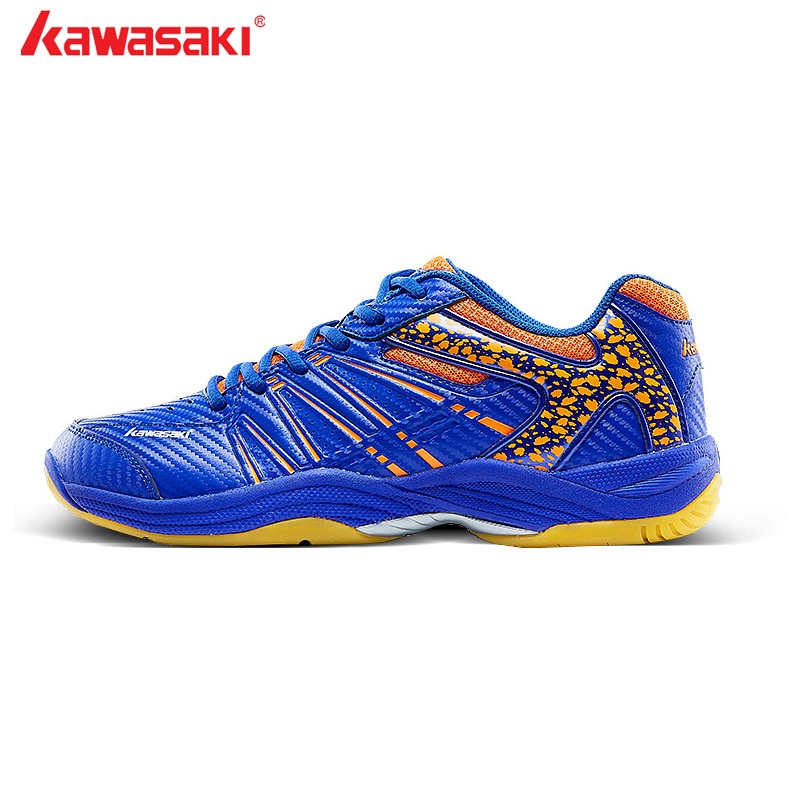 Kawasaki marca profissional sapatos de badminton rendas até tênis respirável masculino feminino indoor tribunal sapatos esportivos K-061D