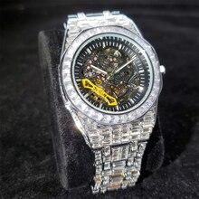 Hip Hop MISSFOX Full Diamond Iced Out Mens Watches Top Brand Luxury Steel Waterproof Man Watch AAA M