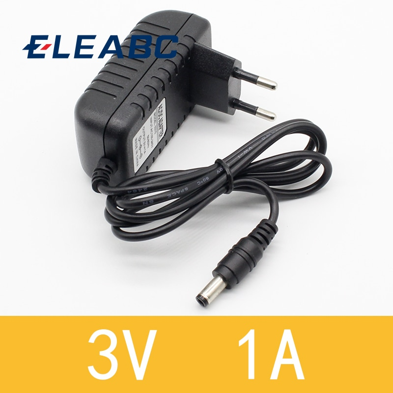 1pcs New AC Converter Adapter DC 3V 1A Power Supply Charger EU Plug 5.5mm x 2.1mm