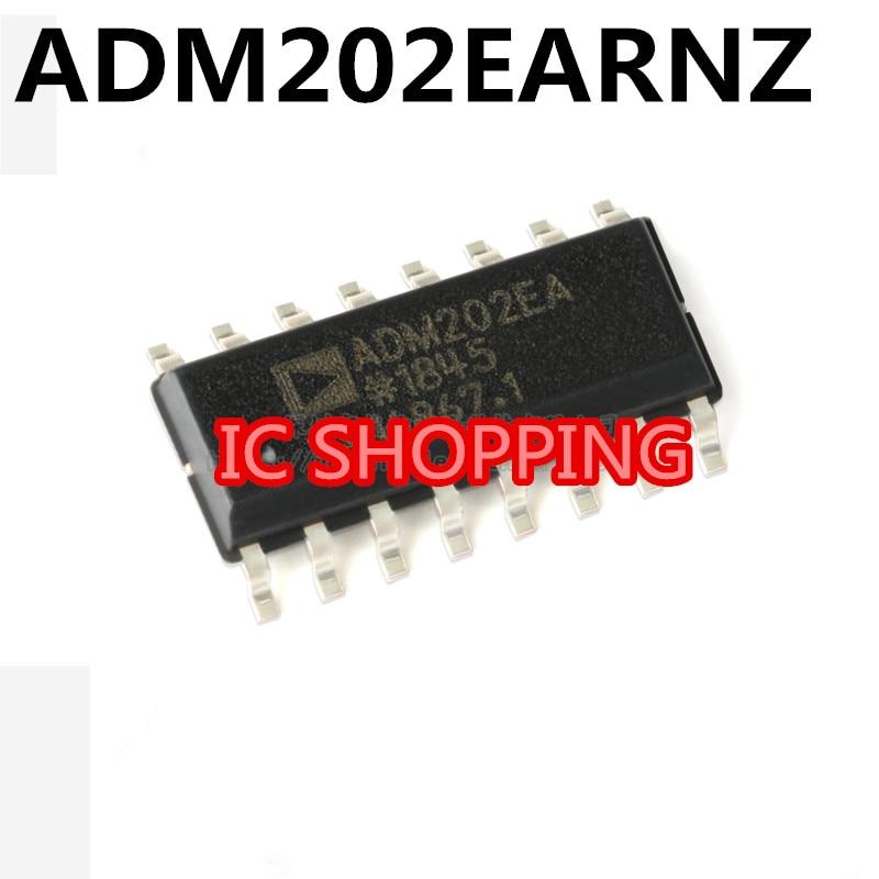 10PCS Em Estoque 100% Novo & original 5 pçs/lote ADM202EA ADM202EARNZ RS-232/ SOP16