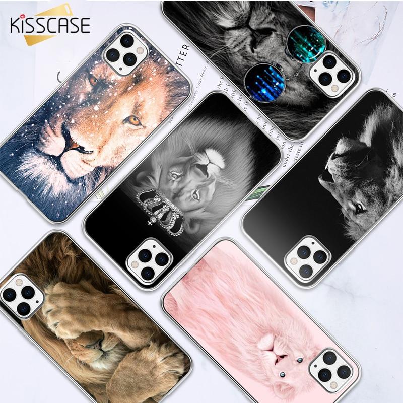 KISSCASE León TPU caso para iPhone 7 8 11pro max 11 xsmax x 11pro 7 8 plus 6 6s xr cubierta fundas de silicona para iPhone 11pro max Etui