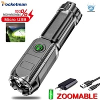 portable mini led flashlight super bright led torch outdoor camping light with built in battery usb rechargeable torch lantern