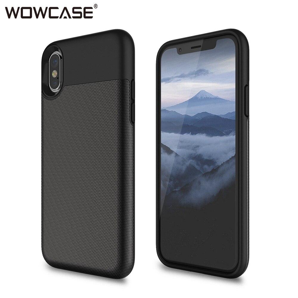 Wowcase casos de telefone negócios para iphone x xs caso slot para cartão de crédito silicone protetor capa traseira para iphone xs max xr 2018 funda