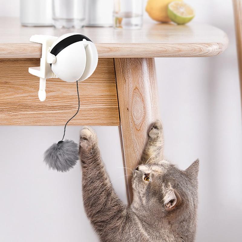 Электронный движущаяся кошка игрушка подъемный мяч Электрический флаттер вращающийся интерактивный пазл Умный кот мяч игрушки