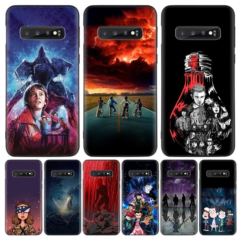 Stranger Things Affiche Noir Housse De Téléphone Pour Samsung Galaxy A51 A71 A10 A20E A30 A40 A50 A70 M30S A6 A7 A8 A01 Coque Coque