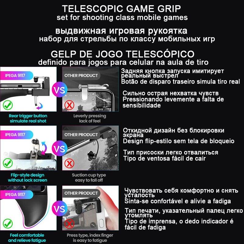 Купить с кэшбэком Trigger Joystick For Android iPhone Cell Phone Pubg Mobile Cellular Smartphone Controller Gamepad Game Pad Pugb Joypad PABG pupg