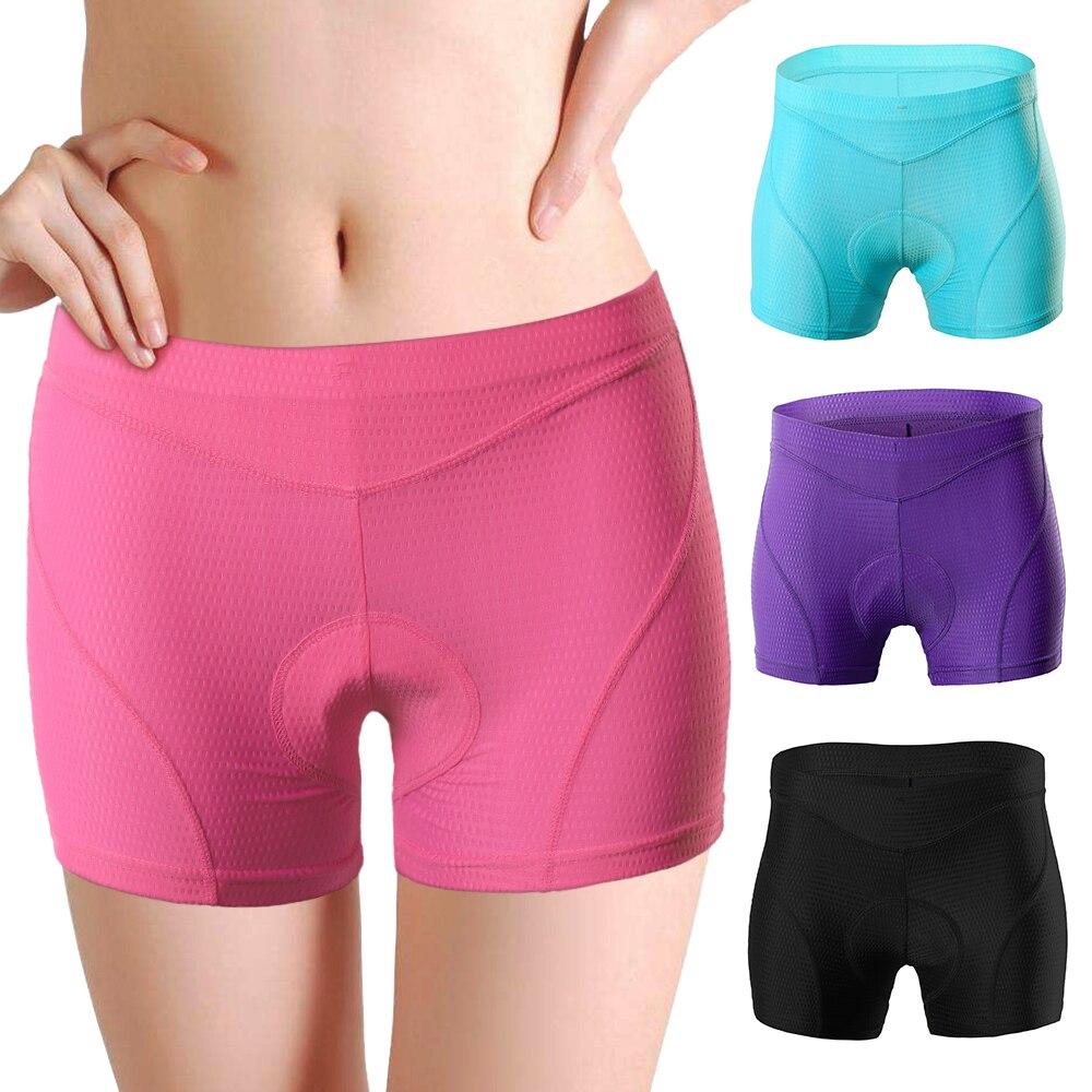 Pantalones cortos de ciclismo para mujer, ropa interior cómoda para ciclismo, mallas de compresión de Gel acolchado 3D, pantalones cortos para bicicleta corta MTB