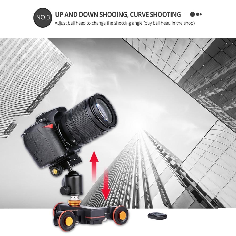 Motorized Camera Slider Rail Camera Camcorder Mobile Phone Camera Slider Stabilizer Rail for YELANGU L4X DSLR enlarge