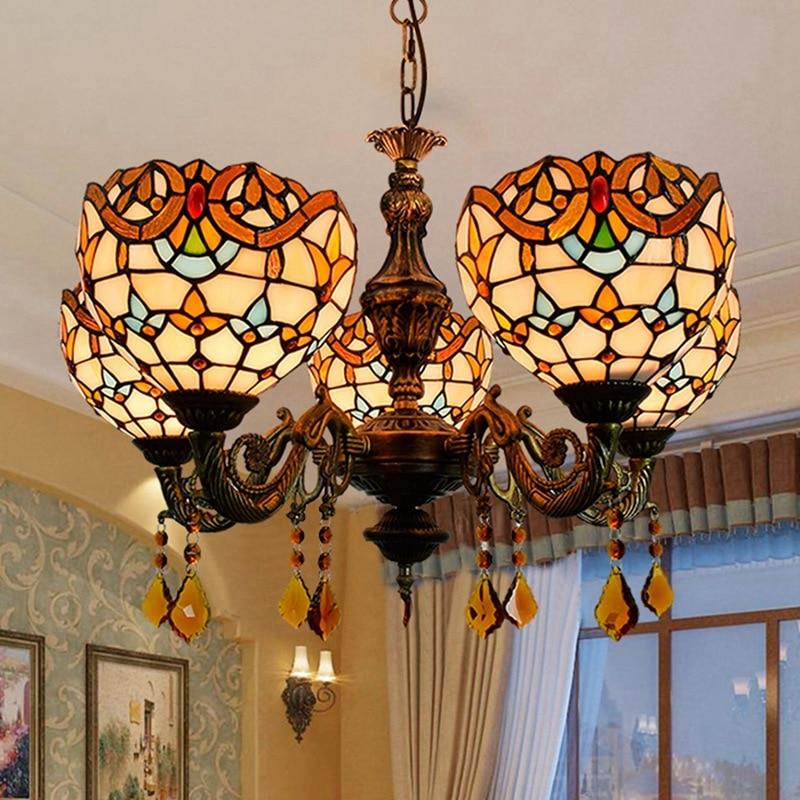 estilo europeu retro criativo tiffany colorido vidro sala de estar sala de jantar
