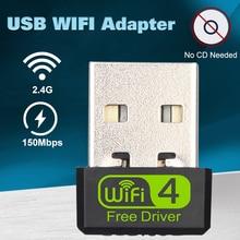 Usb wi-fi adaptador ethernet lan sem fio 802.11n portátil desktop dongle placa antena adaptador 2.4g wi fi receptor wi-fi mini