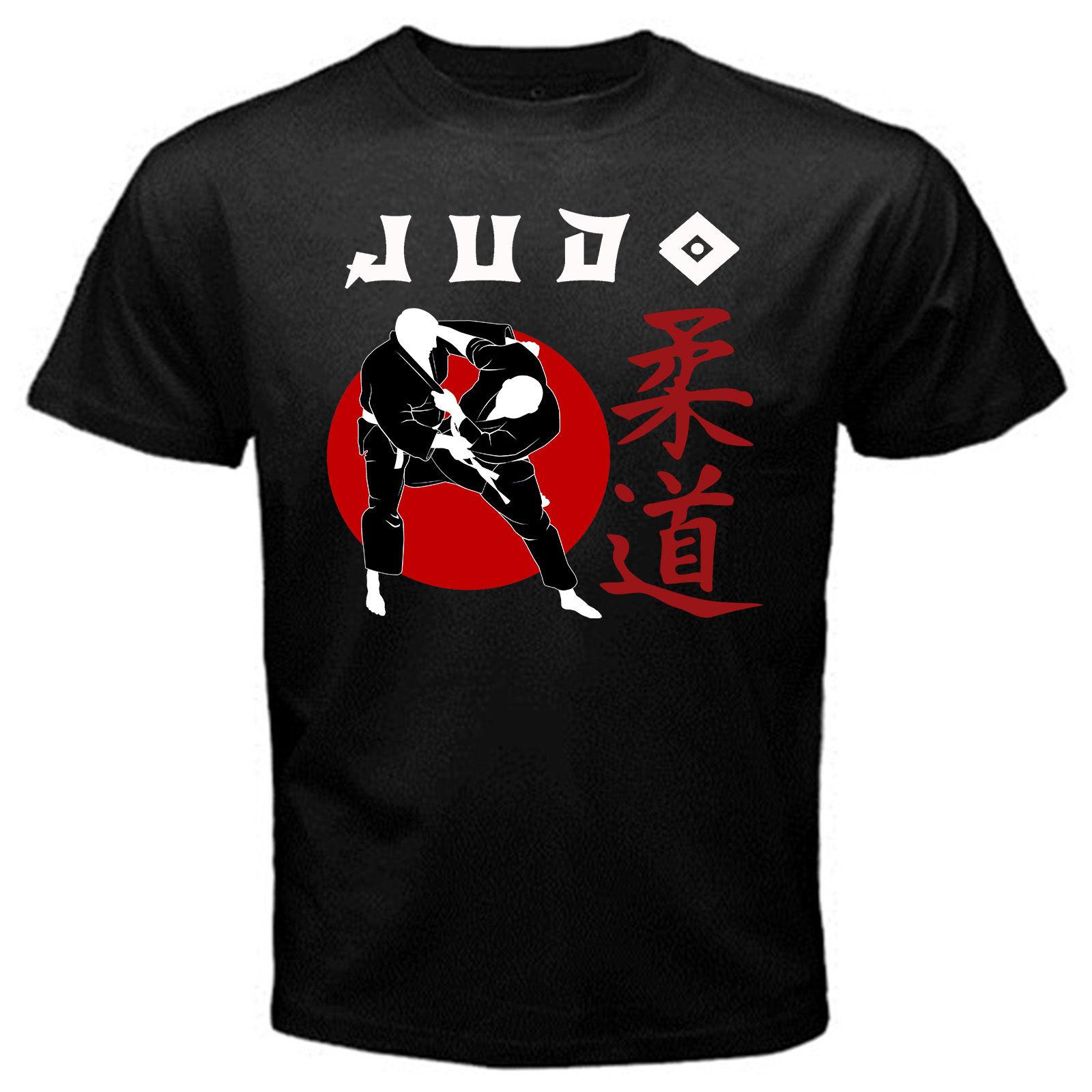 Judo japonés deportivo Nippon artes marciales combate guerra autodefensa camiseta negro