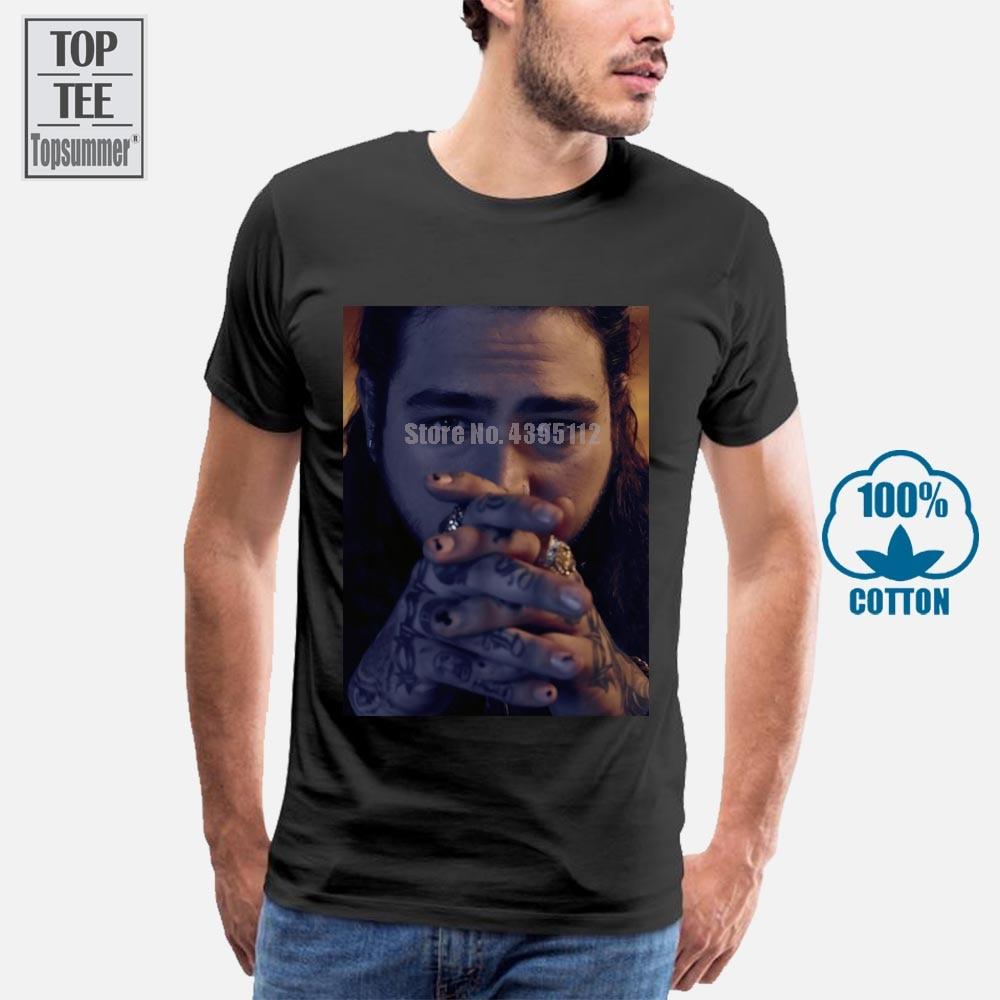 Camiseta masculina de ahsfe post malone confortável em torno do pescoço louco topo camiseta design fresco verão boa qualidade t camisa mais tamanho