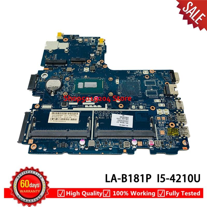 Para HP probook 450 G2 440 G2 450-G2 Laptop motherboard SR1EF i5-4210U ZPL40 ZPL50 ZPL70 LA-B181P 768146-601 768146-001 mainboard