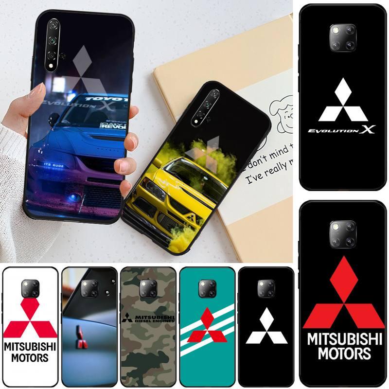 Funda de teléfono de lujo para Mitsubishi Motors, carcasa para Honor 10,...
