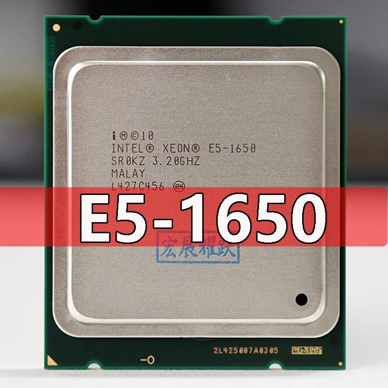 PC Intel Xeon Processor E5 1650 E5-1650CPU (12M Cache, 3.20 GHz,  IntelQPI) LGA 2011 SR0KZ C2 Free AliExpress Standard shipping