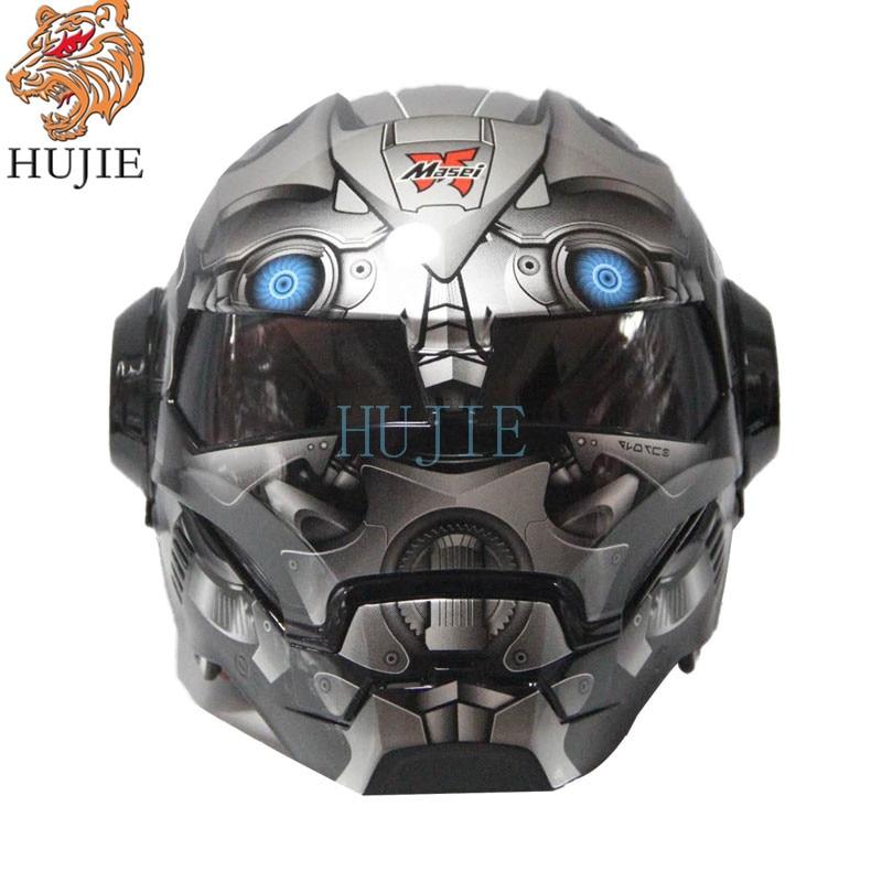 Masei Matt Gray War Machine Mens Womens IRONMAN Iron Man helmet Motorcycle Half Helmet Open Face Helmet ABSCasque Motocross