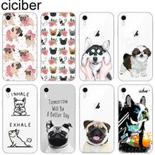ciciber Cute Pug Dog Phone Case Cover For iphone 11 Pro Max 7 8 6S Plus X XS MAX XR 5S SE 2020 Soft Silicone TPU Protect Fundas