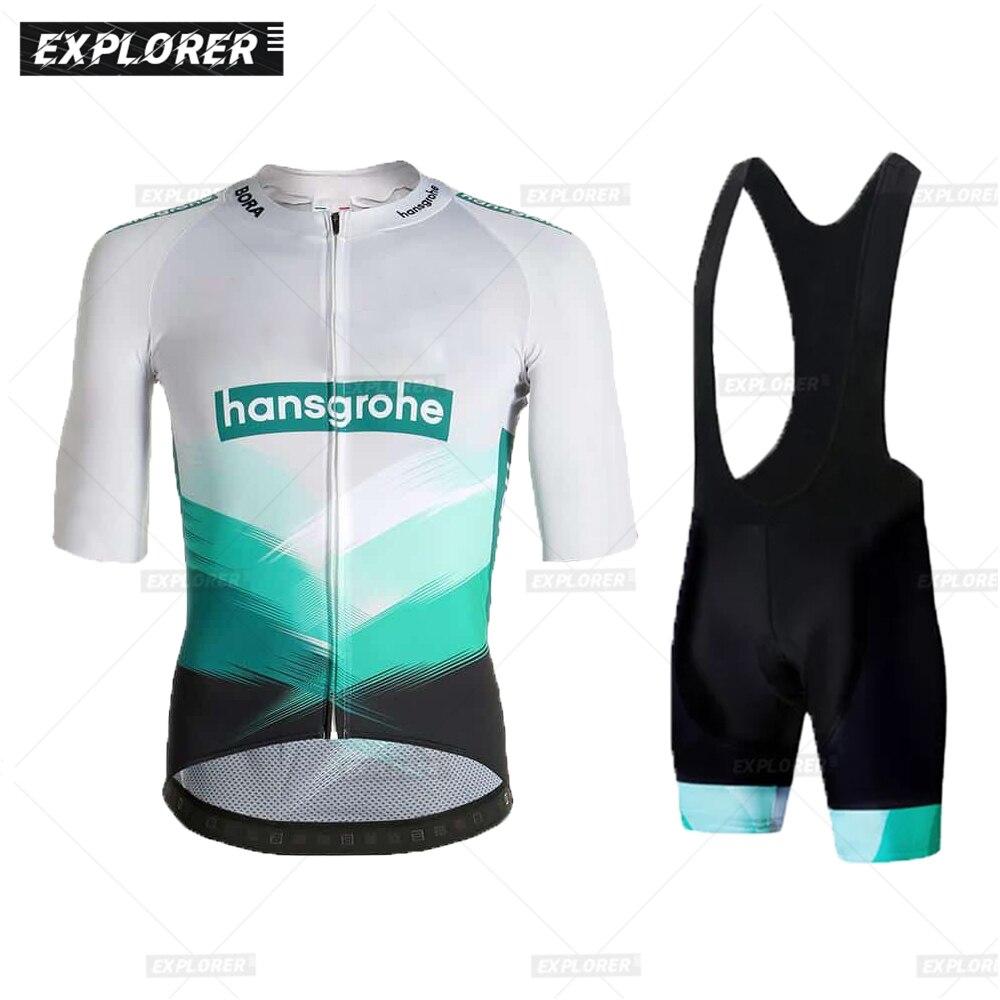 Boraful-Conjunto de ropa de ciclismo profesional para hombre, maillot de manga corta...