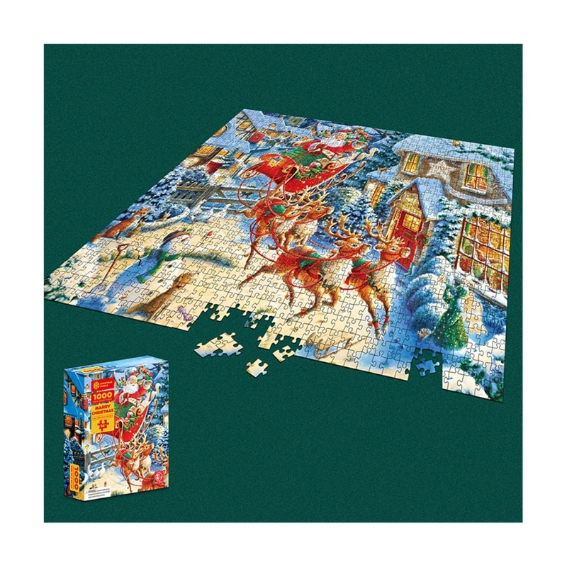 1000Pcs Creative Puzzlebox Children's Gift Xmas Pattern Anxiety Relief Jigsaw popular