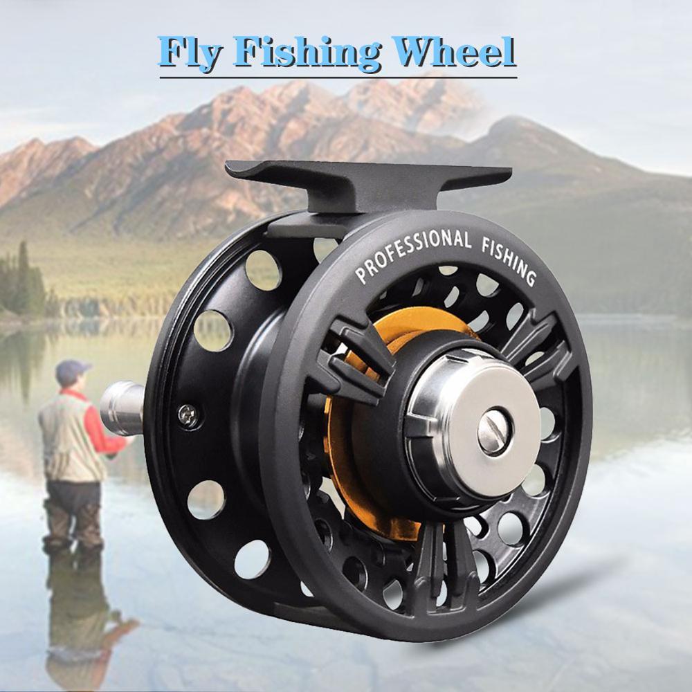 Fly Fishing Reels Left Right Interchangeable 3BB Ball Bearing 1:1 Full Metal Former Rafting Fishing Reel Ice Wheel
